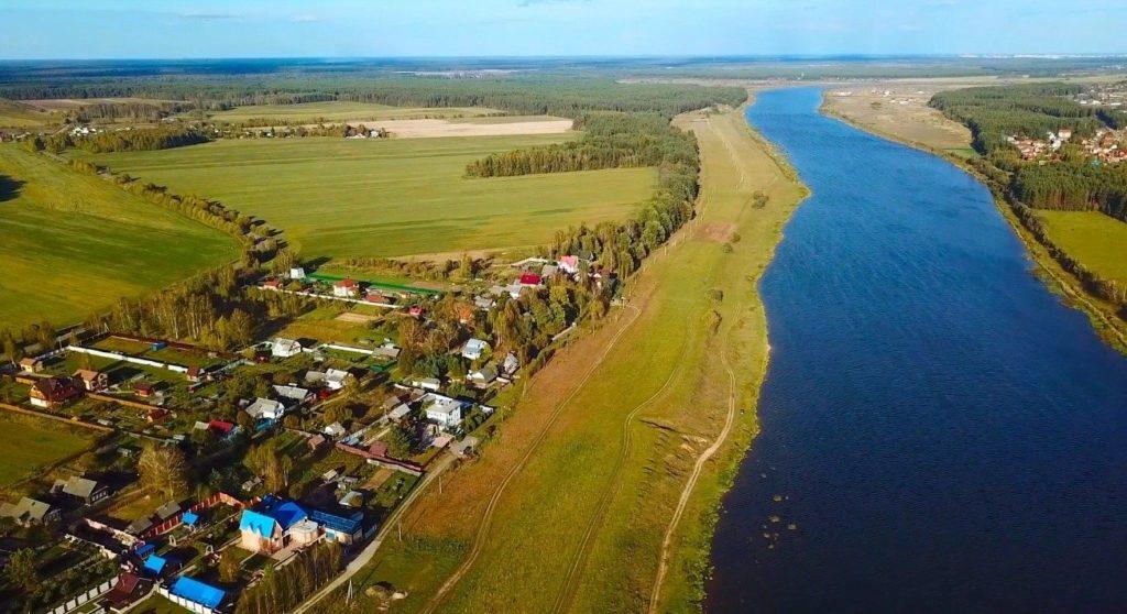Река Волга с высоты птичьего полёта