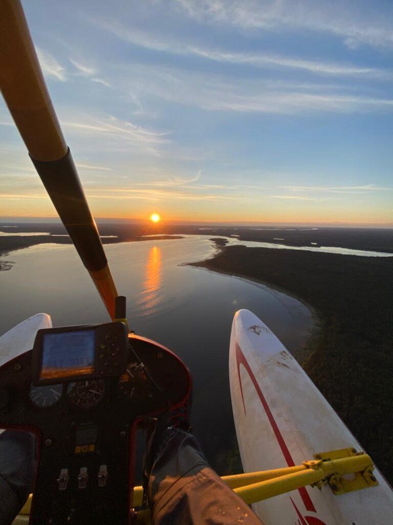 Полёт на закате