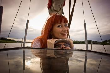 Фотоссесия на яхте - девушка